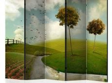 Paraván - autumn - landscape II [Room Dividers]